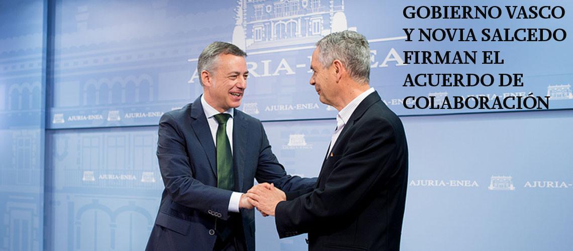 Firma acuerdo Gobierno Vasco y Novia Salcedo