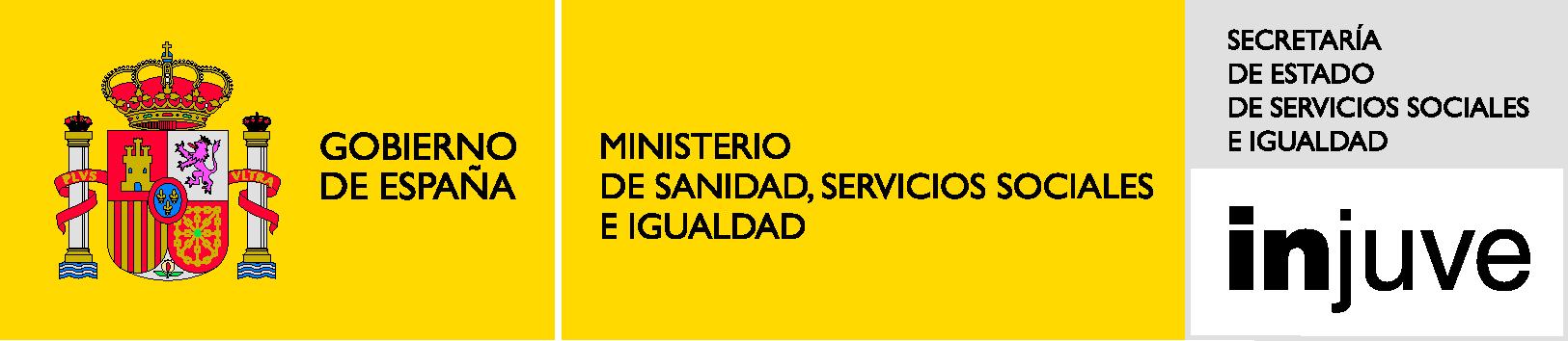 Injuve logo - gobierno de españa - ministerio de sanidad, servicios sociales e igualdad